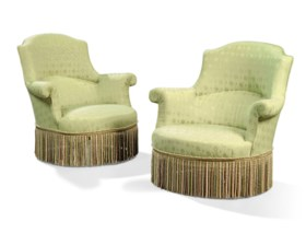 A PAIR OF TUB ARMCHAIRS