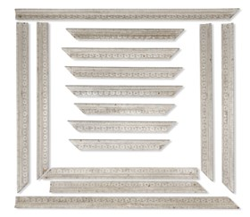 A QUANTITY OF GEORGE III PALE GREY-PAINTED AND CARVED DOORCA