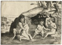 Nymphs and Satyrs bathing