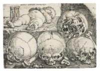 Sleeping Child with Four Skulls