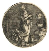 Queen Artemis in a Landscape deploring her Husband