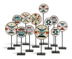 TWELVE KWA ZULU VINYL MOSAIC MOUNTED SOFTWOOD EARPLUGS