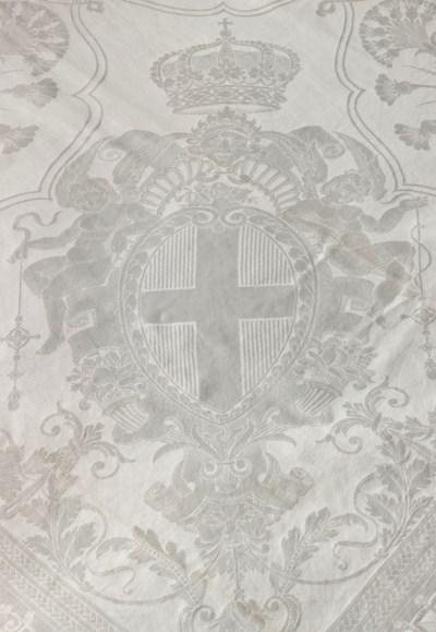 Twelve Italian linen tableclot