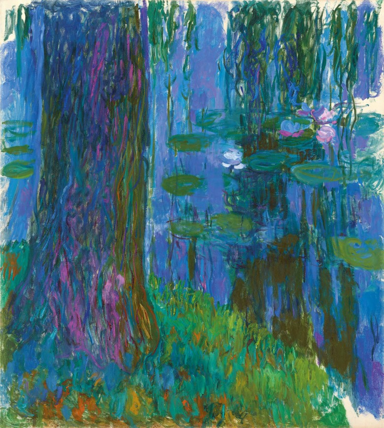 Claude Monet (1840-1926), Saule pleureur et bassin aux nymphéas, 1916-1919. 78½ x 70¾  in (199 x 180  cm). Estimate on request. Offered in Hidden Treasures Impressionist & Modern Masterpieces from an Important Private Collection on 27 February 2019 at Christie's in London