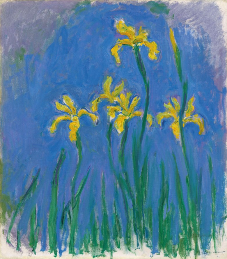 Claude Monet (1840-1926), Iris, 1924-1925. 39⅛ x 34½  in (99.5 x 87.5  cm). Estimate £4,000,000-6,000,000. Offered in Hidden Treasures Impressionist & Modern Masterpieces from an Important Private Collection on 27 February 2019 at Christie's in London