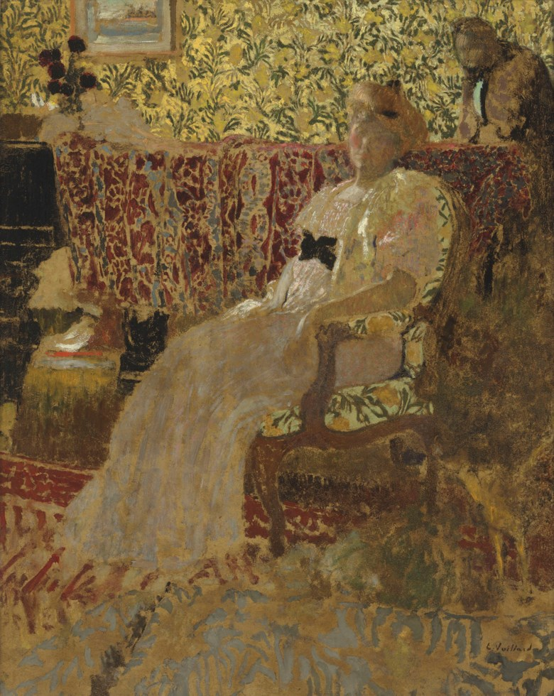 Edouard Vuillard (1868-1940), La femme au fauteuil (Misia et Thadée Natanson), 1896. 36½ x 29⅜  in (92.5 x 74.5  cm). Estimate £2,500,000-4,000,000. Offered in Hidden Treasures Impressionist & Modern Masterpieces from an Important Private Collection on 27 February 2019 at Christie's in London