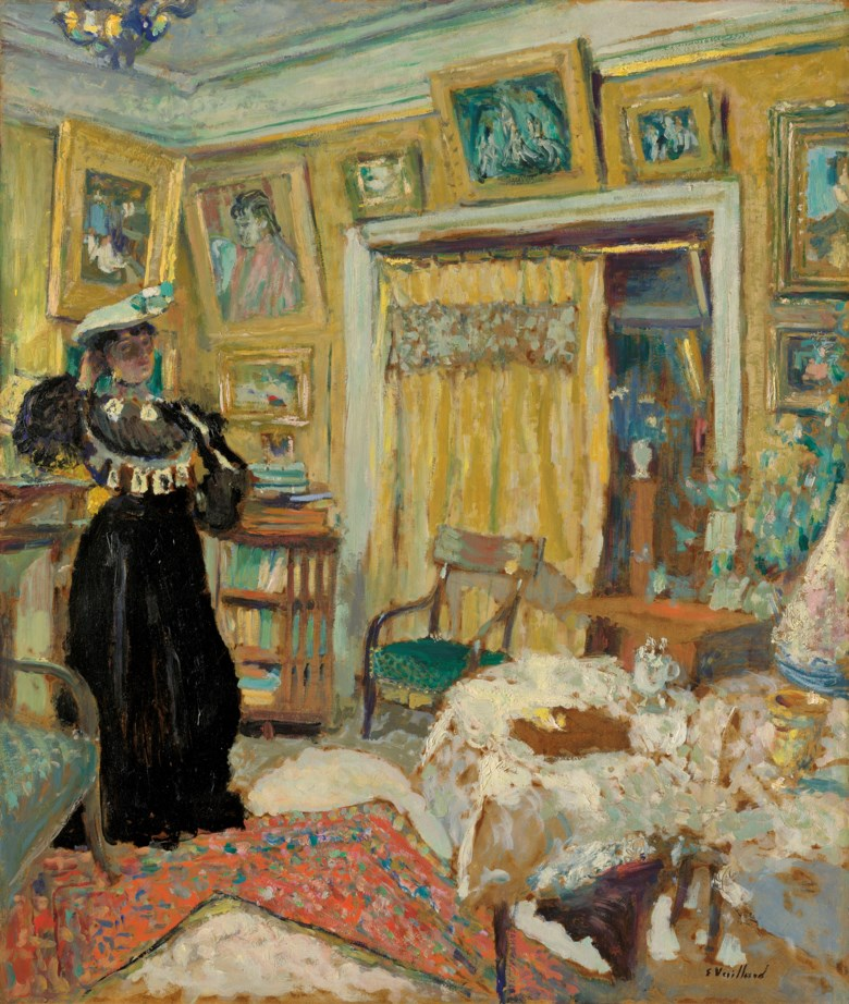 Edouard Vuillard (1868-1940), Intérieur, la dame en noir, 1904. 28¾ x 24¼  in (73 x 61.7  cm). Estimate £600,000-900,000. Offered in Hidden Treasures Impressionist & Modern Masterpieces from an Important Private Collection on 27 February 2019 at Christie's in London
