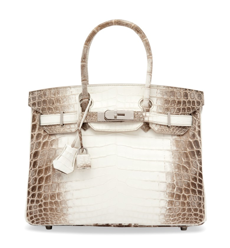 A rare, matte white Himalaya Niloticus Crocodile Birkin 30 with palladium hardware, Hermès, 2019. 30 w x 22 h x 15 d cm. Estimate £60,000-80,000. Offered in Handbags & Accessories on 19 November 2019 at Christie's in London