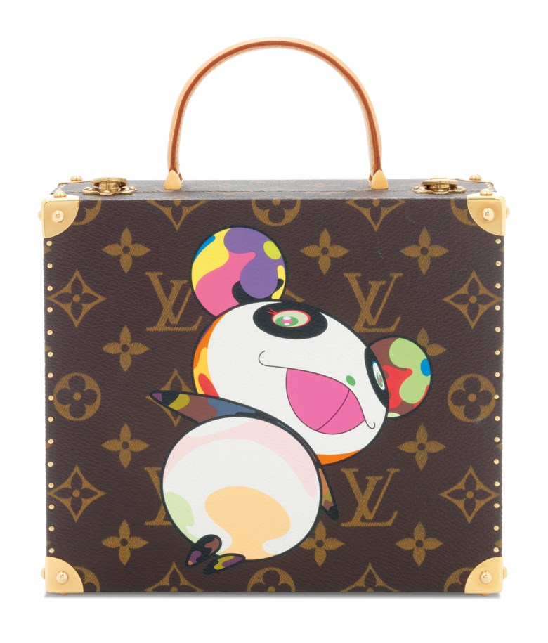 A limited edition superflat jewellery box by Takashi Murakami, Louis Vuitton, 2003. 19 w x 16 h x 7 d cm. Sold for £11,000 on 19 November 2019 at Christie's in London