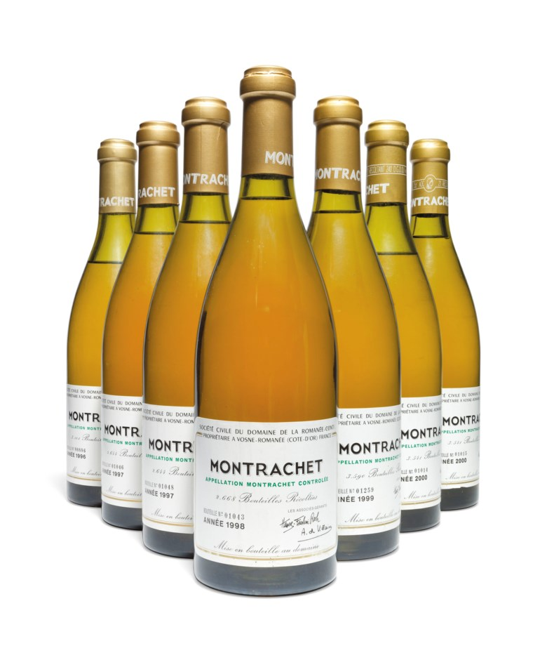 Domaine de la Romanée-Conti, Montrachet 2000, 2 bottles per lot. Estimate £7,500-9,000. Offered in Fine and Rare Wines Including Rare Burgundy to Benefit Maison Jacques Copeau on 20 March 2019 at Christie's in London