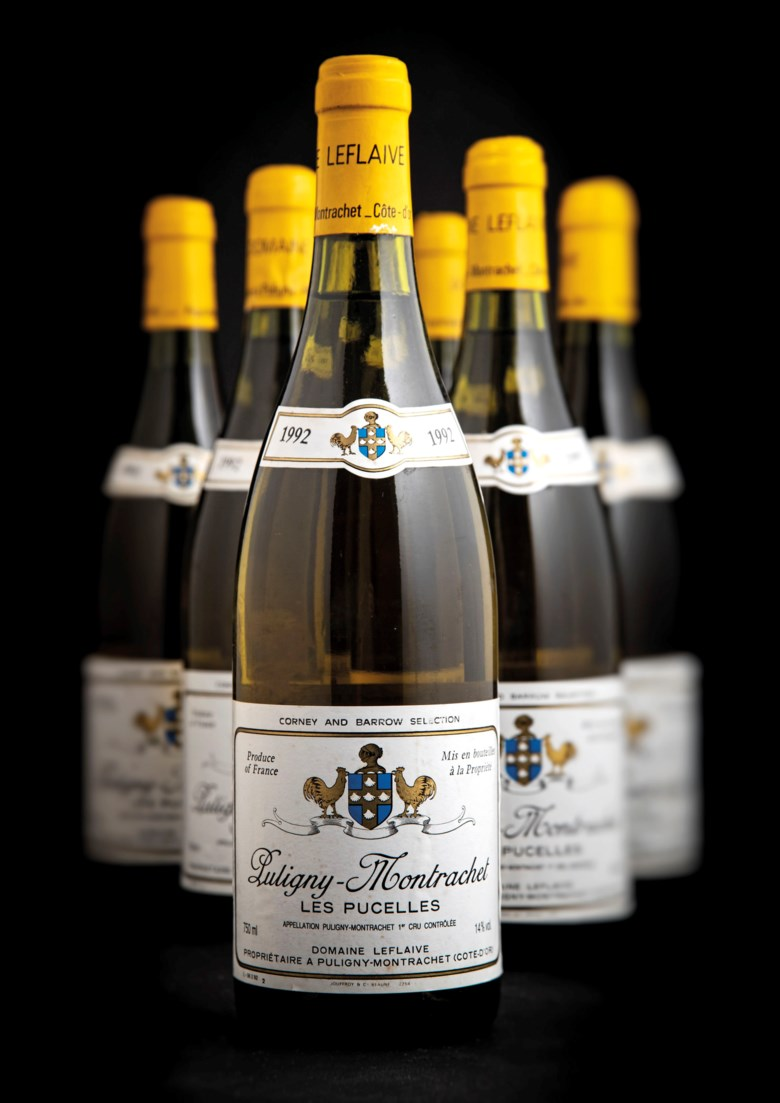 Domaine Leflaive, Puligny-Montrachet Les Pucelles 1992, 12 bottles per lot. Estimate £2,400-3,200. Offered in Fine and Rare Wines Including Rare Burgundy to Benefit Maison Jacques Copeau on 20 March 2019 at Christie's in London