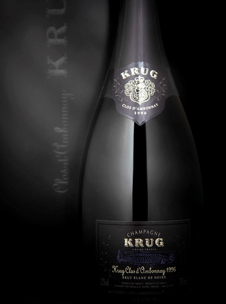 Krug Clos d' Ambonnay 1996, 3 bottles per lot. Estimate £3,000-4,200. This lot is offered in Finest and Rarest Wines and Spirits on 5-6 June 2019 at Christie's in London