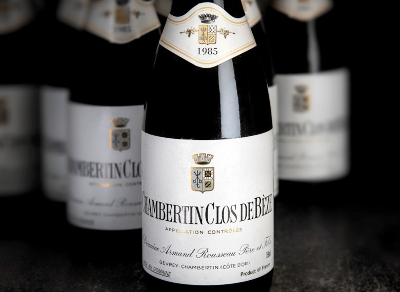 Armand Rousseau, Chambertin Clos de Bèze 1985. 12 bottles per lot. Sold for £49,000 on 5-6 June 2019 at Christie's in London