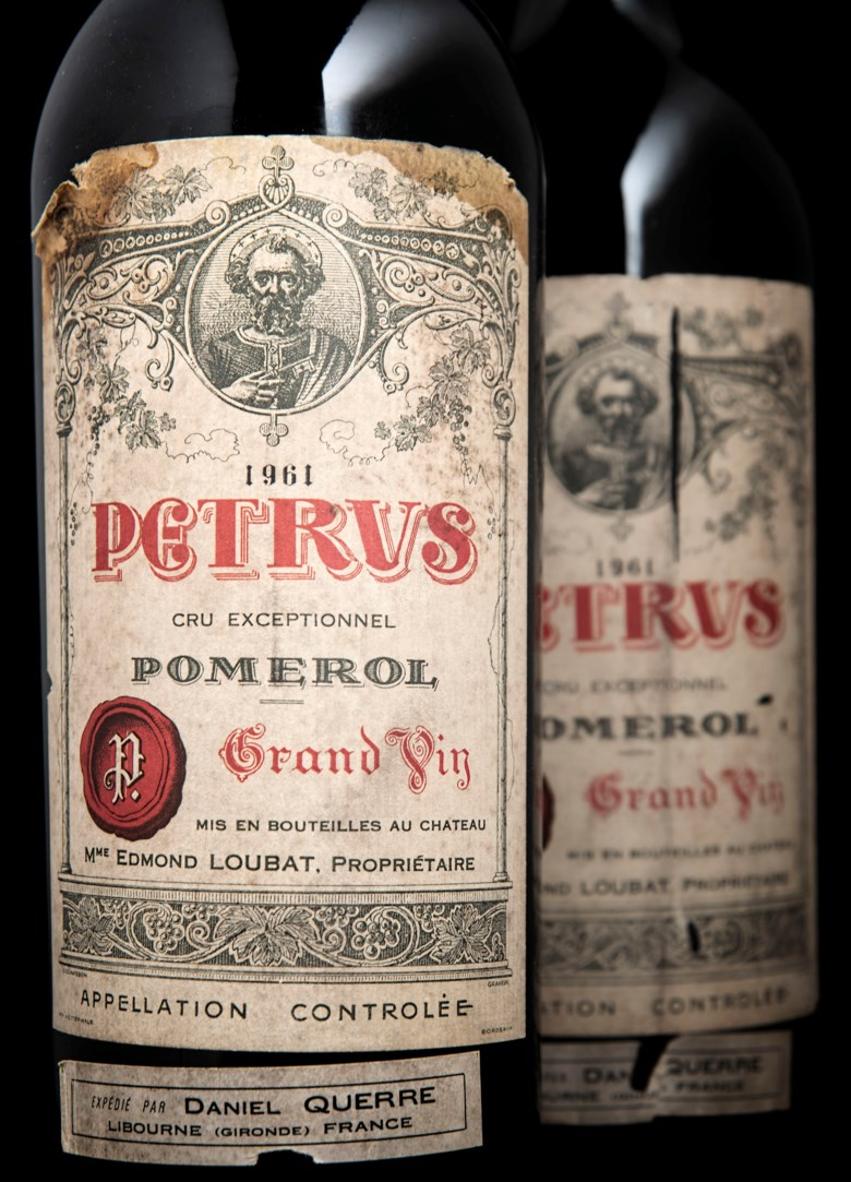 Petrus 1961, 2 magnums per lot. Estimate £28,000-35,000. This lot is offered in Finest and Rarest Wines and Spirits on 5-6 June 2019 at Christie's in London