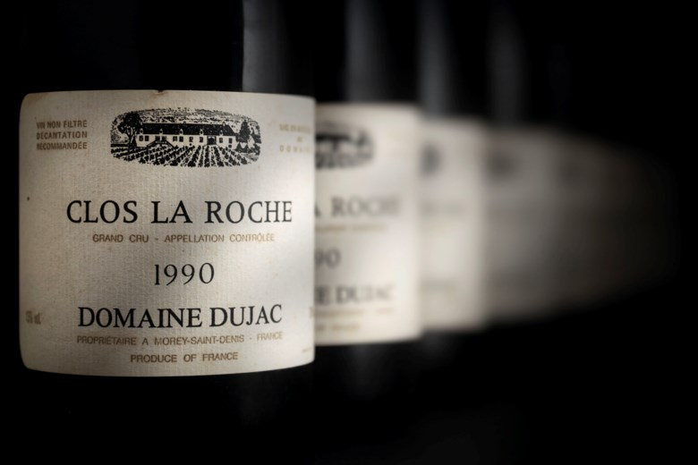 Domaine Dujac, Clos de la Roche 1990, 8 bottles per lot. Slightly scuffed  capsules. Slightly bin-soiled  labels. Levels four 2cms, two 2.5cms and two 3cms. Estimate £22,000-28,000. Offered in Fine & Rare Wines on 17 October 2019 at Christie's in London