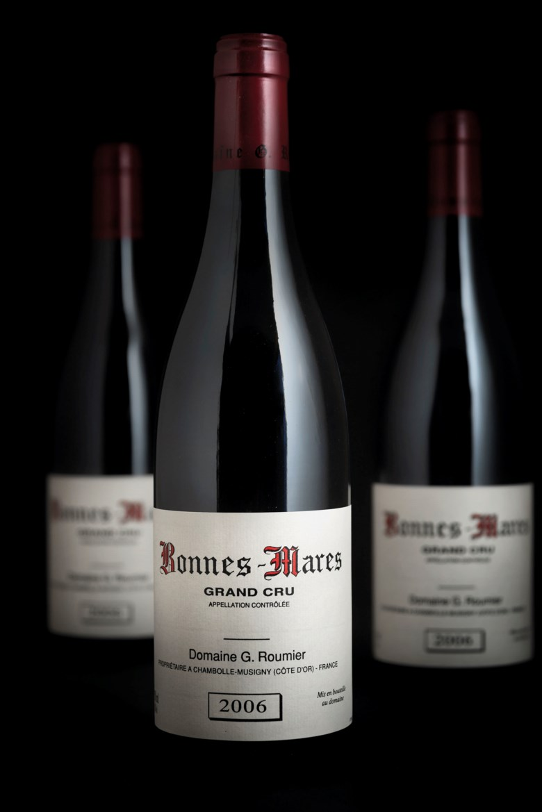 Roumier, Bonnes Mares 2006, 3 bottles per lot. Estimate £2,200-2,600. Offered in Fine & Rare Wines on 17 October 2019 at Christie's in London