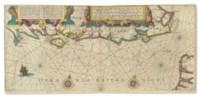 BLAEU, Willem Janszoon (1588-1664). Vertooninge naar 't leven vande Zeecusten van Engelant tussen Poortlant ende Doeveren. [Amsterdam: c.1608].