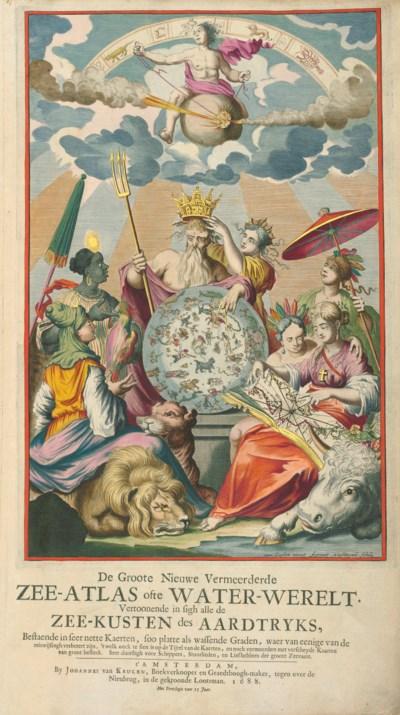 KEULEN, Johannes van (1654-1715). De Groote Nieuwe Vermeerderde Zee-Atlas...