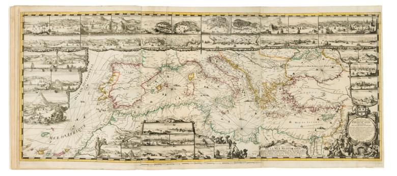 Le Neptune François, ou Atlas Nouveau des Cartes Marines. Levées et Gravées par ordre exprès du Roy. Pour lusage de ses armées de mer,1693-1700. Three parts in 2 volumes, folio (635 x 500 mm).