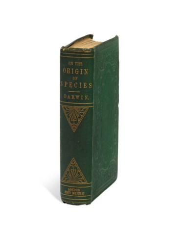 Charles Robert Darwin (1809-1882) On the Origin of Species by Means of Natural Selection. London, 1859 (197 x 123mm). Estimate £140,000-200,000. Offered in Important Scientific Books from the Collection of Peter and Margarethe Braune on 9 July 2019 at Christie's in London