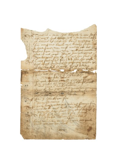 [SHAKESPEARE, William]. Manusc