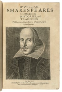 SHAKESPEARE, William (1564-1616). Comedies, Histories and Tragedies. Published according to the true Originall Copies. The second Impression. Edited by John Heminge (d. 1630) and Henry Condell (d. 1627). London: Printed by Thomas Cotes, for Robert Allot, 1632.