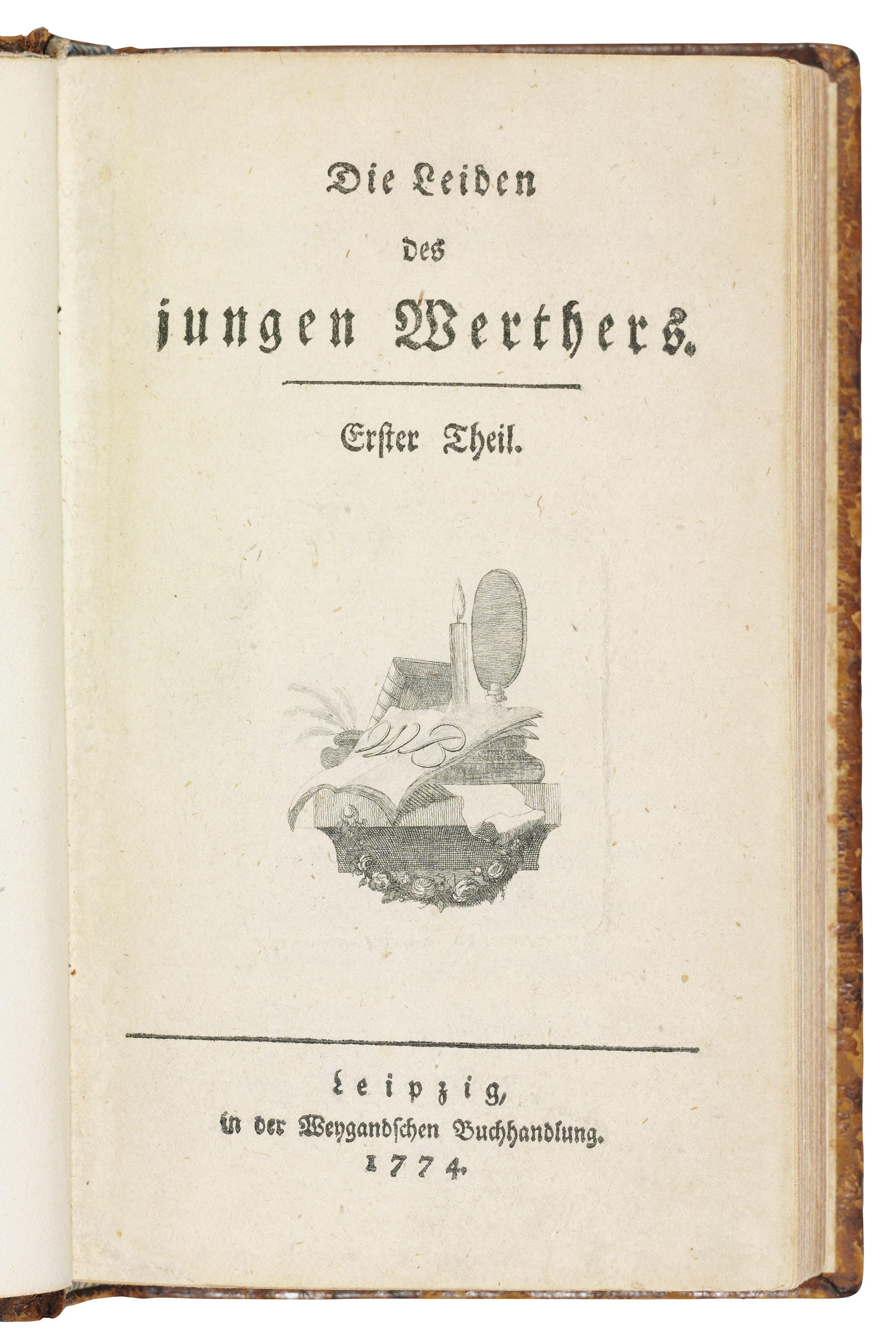 Goethe Johann Wolfgang Von 1749 1832 Die Leiden Des