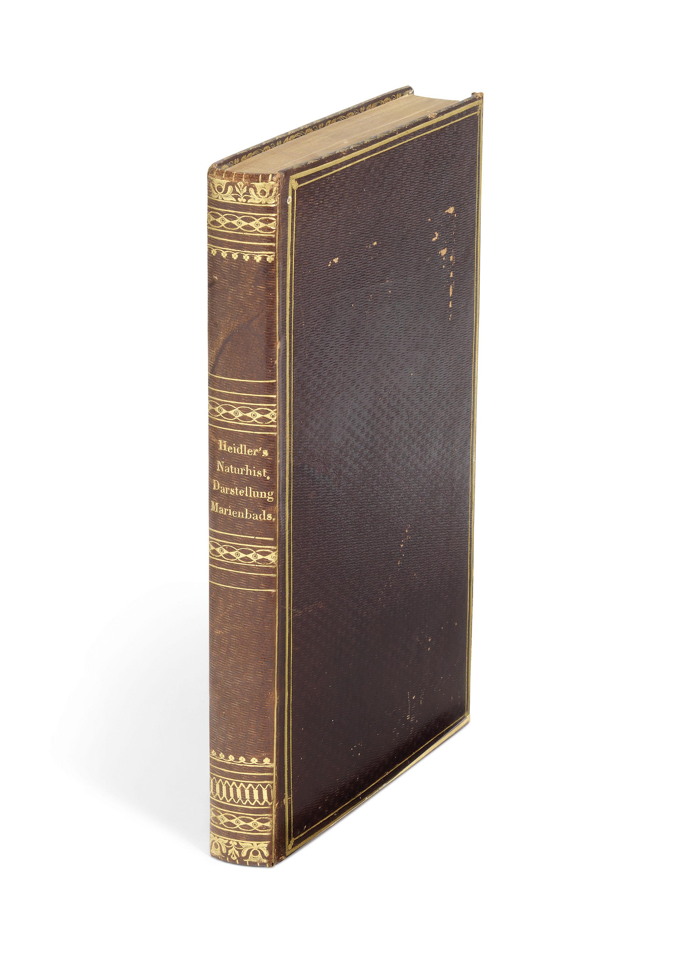FREDERICK AUGUSTUS II, King of Saxony (1797-1854) and J. W. von GOETHE (1749-1832). Pflanzen und Gebirgsarten von Marienbad, gesammelt und beschreiben von Seiner Hoheit ... und von ... J. W. von Goethe; erganzt, und mit einem Anhange uber die andern naturhistorischen Verhaltnisse des Curortes von C. J. Heidler. Prague: Kronberger & Weber, 1837.