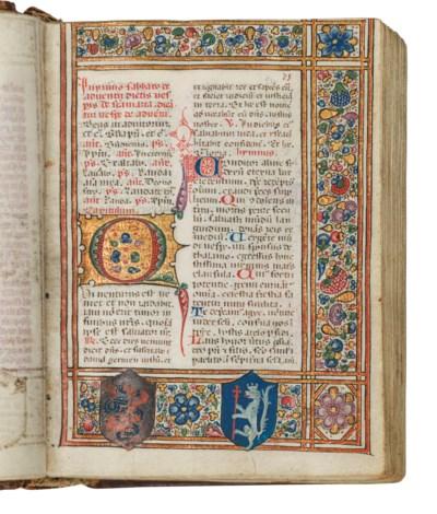 BREVIARY, for the use of the Carmelites, in Latin, illuminated manuscript...