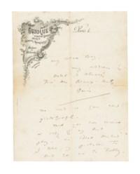 WILDE, Oscar (1854-1900). Autograph letter signed ('Oscar') to Louis Wilkinson ('My Dear Boy'), Paris [Hôtel d'Alsace], n.d. [November 1899].