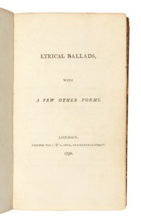 [WORDSWORTH, William (1770-1850) and Samuel Taylor COLERIDGE (1772-1834)]. Lyrical Ballads. London: J. and A. Arch, 1798.