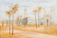 Kew avenue from my own gate near Colombo, Oct 31 1848; and Elie House, Mutural, Colombo – a sketch