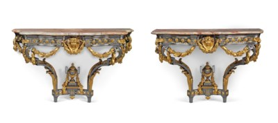 A PAIR OF LATE LOUIS XV STEEL