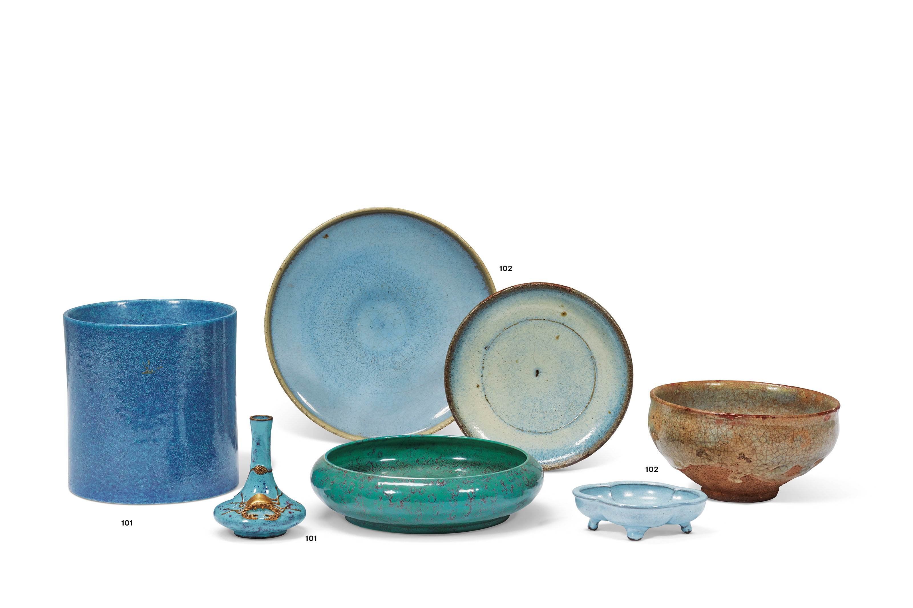 A GROUP OF THREE CHINESE GLAZED VESSELS