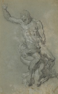 Samson slaying the Philistines, after Michelangelo (recto and verso)