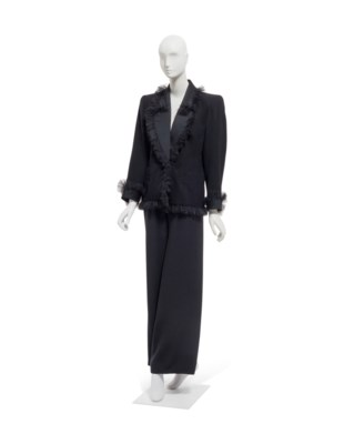 025a9f6fb18 YVES SAINT LAURENT HAUTE COUTURE FALL WINTER 1987-1988 AND SPRING SUMMER  1989, A PRINTED GAZAR JACKET AND A BLACK WOOL AND TULLE JACKET | Christie's