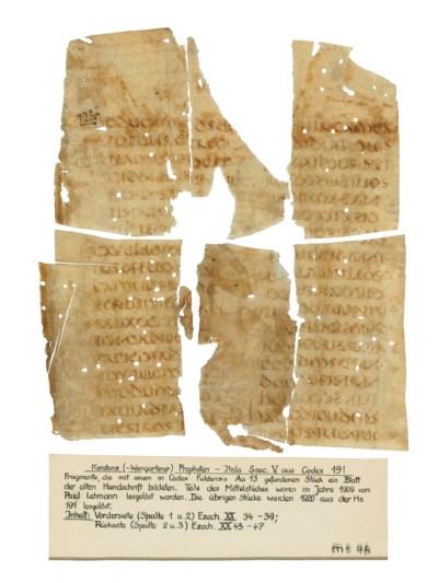 BIBLE, Ezechiel, in Latin, man