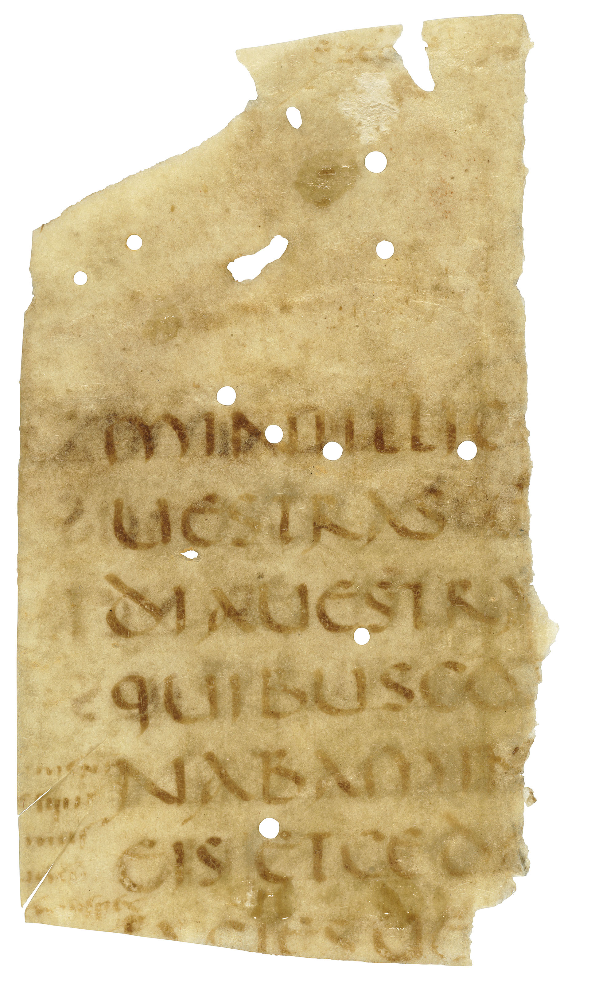 BIBLE, Ezechiel, in Latin, manuscript on vellum [northern Italy, 5th century]