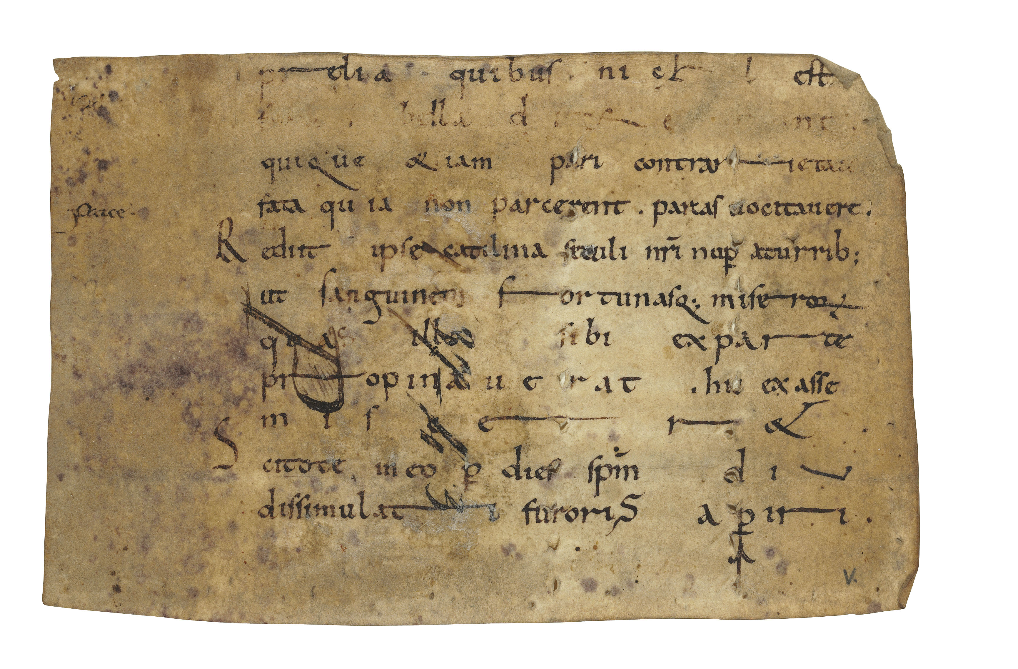 SIDONIUS APOLLINARIS (c.430/33-c.479), Epistolae, in Latin, manuscript on vellum [?France, late 10th century]