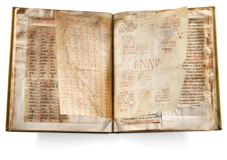 The palaeographical album of Pierre-Camille le Moine, a compilation of fragments from medieval codices on vellum and paper, some decorated and illuminated, in French and Latin [France, Lorraine, 10th to 18th centuries]. Estimate £70,000-100,000. Offered in The History of Western Script Important Antiquities and Manuscripts from the Schøyen Collection on 10 July 2019 at