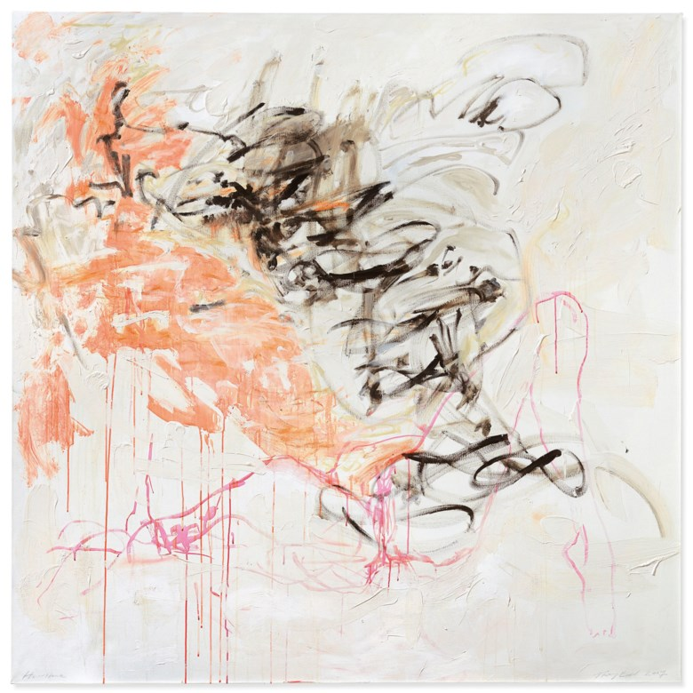 Tracey Emin (b. 1963), Hurricane, painted in 2007. Acrylic on canvas. 72 x 72 in (182.8 x 182.8 cm). Estimate £120,000-180,000. Offered in The George Michael Collection Evening Auction on 14 March 2019 at Christie's in London