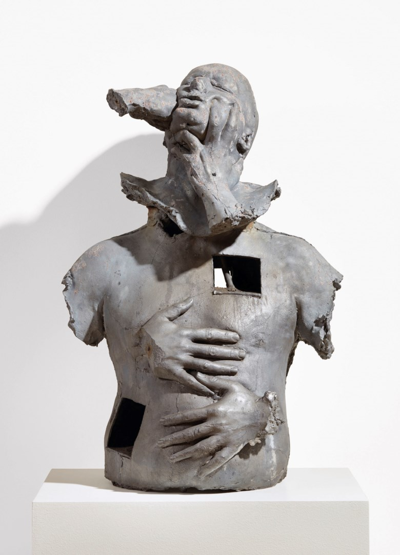 Marc Quinn (b. 1964), Emotional Detox The Seven Deadly Sins VI, executed in 1994-1995. Cast lead and wax. This work is from an edition of three. 31¼ x 21 x 17 in (79.3 x 53.3 x 43.1 cm). Estimate £15,000-20,000. Offered in The George Michael Collection Evening Auction on 14 March 2019 at Christie's in London