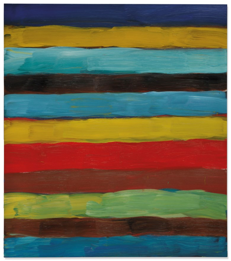 Sean Scully (b. 1945), Landline Red Horizon, executed in 2016. 85 x 75 ¼ in (216 x 191 cm). Estimate £1,000,000-1,500,000. Offered in Post-War and Contemporary Art Evening Auction on 25 June at Christie's in London © Sean Scully