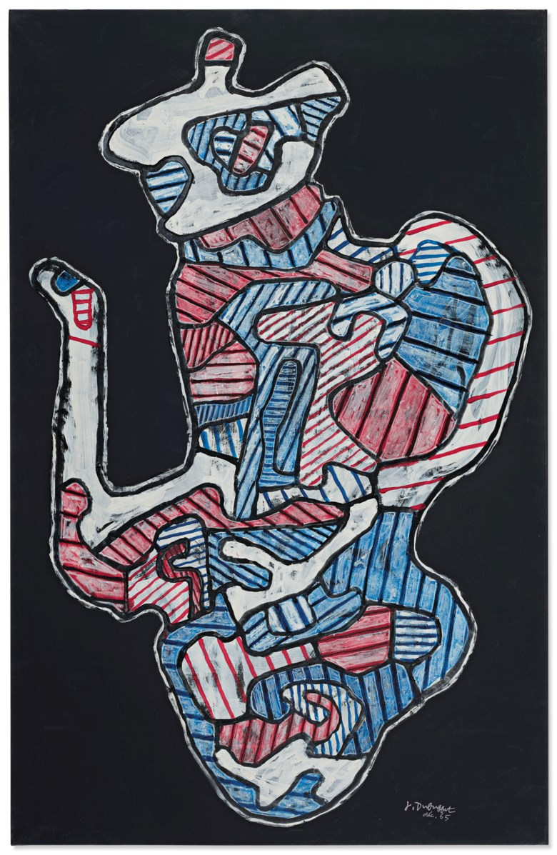 Jean Dubuffet (1901-1985), Cafetière II (Coffee maker II), executed in December 1965. 41⅜ x 26⅝ in (105.2 x 67.6 cm). Estimate £550,000-750,000. Offered in Post-War and Contemporary Art Evening Auction on 25 June 2019 at Christie's in London © ADAGP, Paris and DACS, London 2019