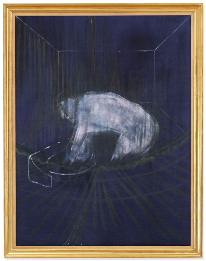 Francis Bacon (1909-1992), 'Man at a Washbasin', painted circa 1954. 59⅞ x 45⅝ in (152 x 116 cm). Sold for £5,109,450 on 25 June 2019 at Christie's in London