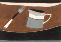 Still Life with Jug and Fork