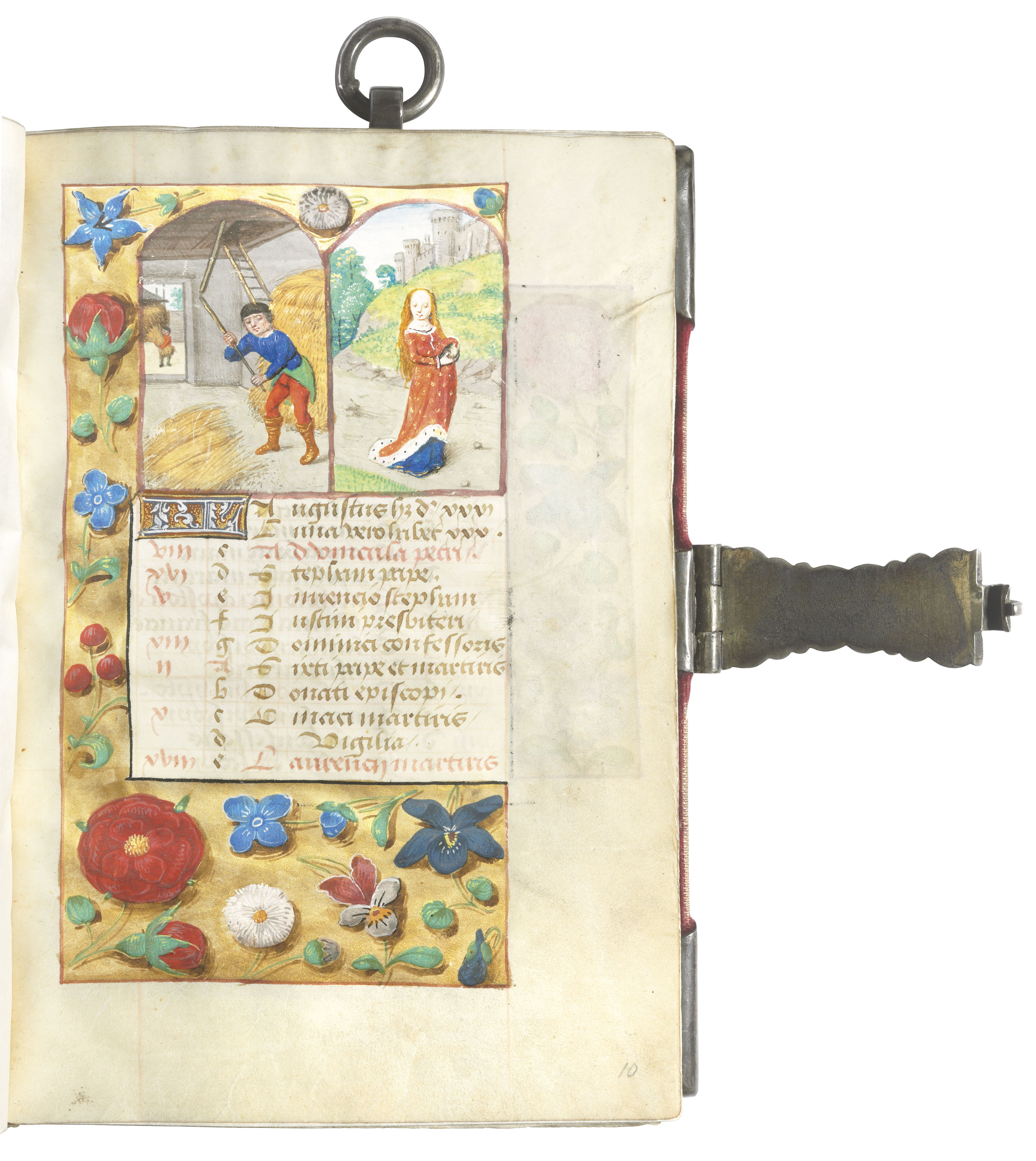 BOOK OF HOURS, use of Rome, in Latin, illuminated manuscript on vellum [Flanders, probably Ghent, c.1485-1490]