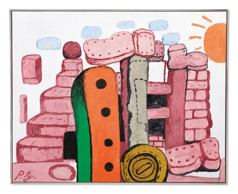 Philip Guston (1913-1980), Language I, 1973. 48 x 60 in (122 x 152 cm). Sold for £3,838,250 on 1 October 2019 in The Jeremy Lancaster Collection at Christie's in London