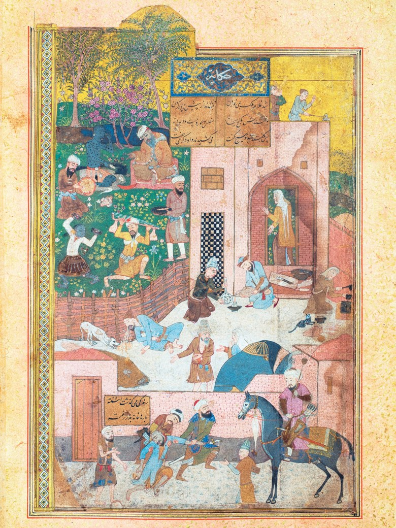 Rukn al-din Awhadi Maragha'i known as Awhad al-din Isfahani (d. 1338) Jam-i Jam (The Cup of Jamshid). Text panel 7⅝ x 4 in (19.3 x 10.2 cm); folio 12 x 7⅝ in (30.5 x 19.3 cm). Estimate £1,000,000-1,500,000. This lot is offered in The Oliver Hoare Collectionon 25 October 2019 at Christie's in London