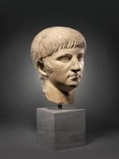 A ROMAN MARBLE HEAD OF THE EMP
